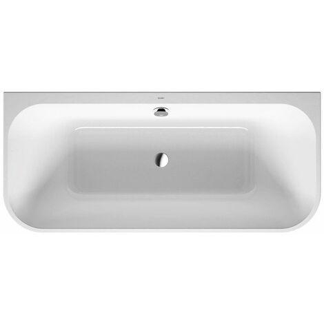 Bañera Duravit Happy D.2 Plus 180x80cm, versión de pre-pared, 700451, 2 inclinaciones traseras, con revestimiento acrílico en grafito supermatt y marco - 700451800000000