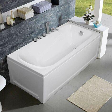Bañera Empotrada Acrílico Fibra de Vidrio Diseño Elegante Ozone | Lado: Izquierda