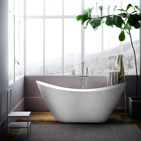 Bañera Freestanding ovalada de diseño moderno Instalación libre SIRO