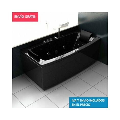 Bañera Hidromasaje ECO-DE® MALAGA BLACK 170x80x68cm (mantenedor de calor)