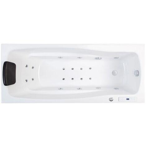 Bañera hidromasaje Ocean 170 Premium izquierda sin grifería con 18 jets