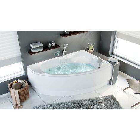 Bañera hidromasaje Set Constantin Premium derecha llenado vía rebosadero