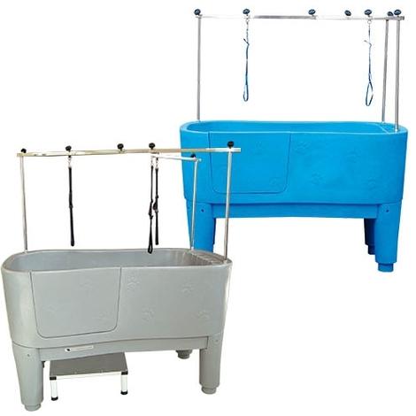 Bañera Ibáñez Glenbath para peluquería canina, diseño vanguardista ergonómico, a elegir color granito o azul