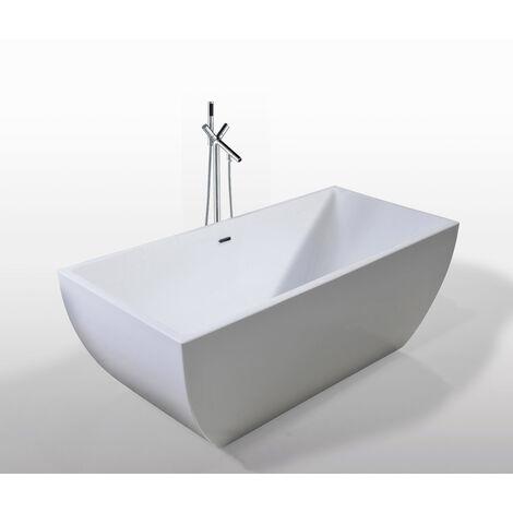 Bañera Independiente Diseño Moderno e Innovador 170x75cm Jennifer+grifo