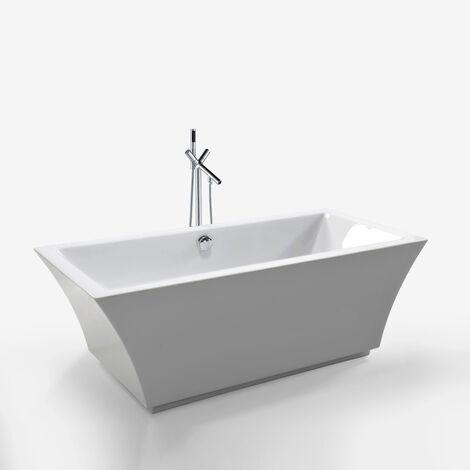 Bañera Independiente Diseño Moderno e Innovador 170x80cm Susan+grifo