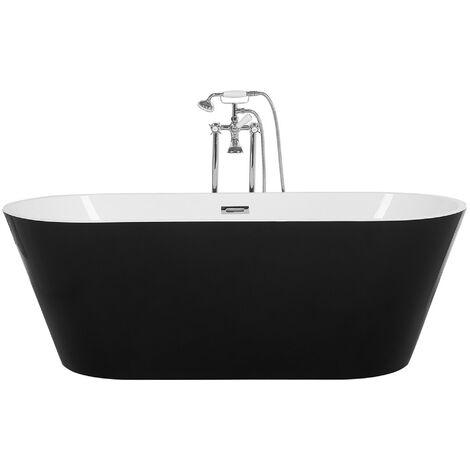 Bañera independiente ovalada en negro-blanco CABRITOS