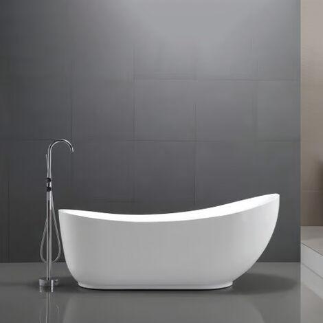 Bañera islote acrílica blanca MAILAND - 180x89cm - con o sin grifería