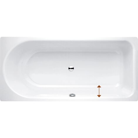 Bañera Ocean Low-Line 180x80 cm, 8839-, frontal rebosadero, blanco, color: Blanco - 8839-000