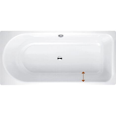 Bañera Ocean Low-Line 180x80 cm, 8839-, frontal rebosadero, blanco, color: Blanco - 8839-000