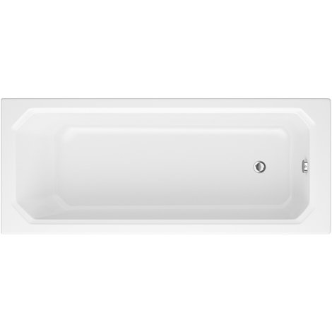 Bañera Rectangular Acrílica Retro Blanca 1700x750mm