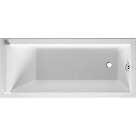 Bañera rectangular Duravit Starck 160x70cm, un respaldo inclinado, 700333, versión empotrada - 700333000000000