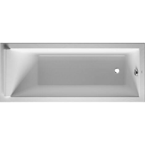 Bañera rectangular Duravit Starck 170x70cm, un respaldo inclinado, 700334, versión empotrada - 700334000000000