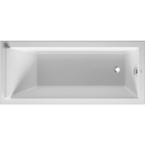 Bañera rectangular Duravit Starck 170x75cm, un respaldo inclinado, 700335, versión empotrada - 700335000000000
