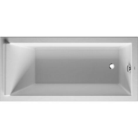 Bañera rectangular Duravit Starck 170x80cm, un respaldo inclinado, 700336, versión empotrada - 700336000000000