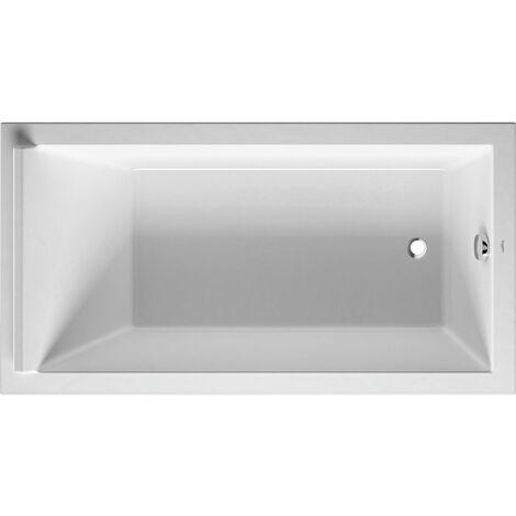 Bañera rectangular Duravit Starck 170x90cm, un respaldo inclinado, 700337, versión empotrada - 700337000000000