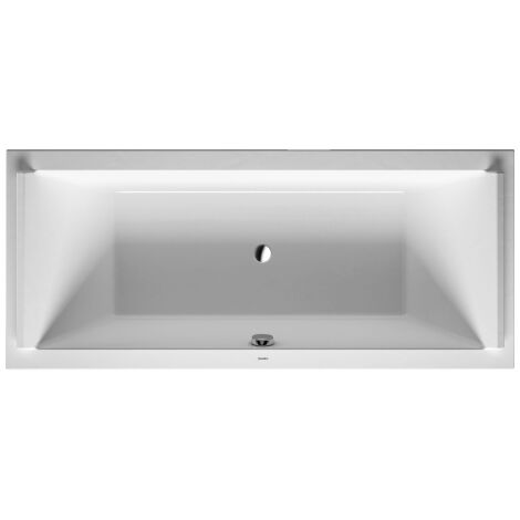 Bañera rectangular Duravit Starck 180x80cm, dos vertientes traseras, 700338, versión empotrada - 700338000000000