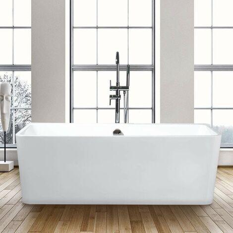 Bañera Rectangular Independiente Exenta Diseño Moderno ICARIA