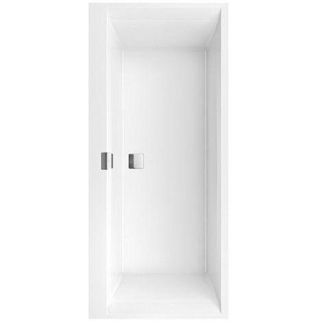 Bañera rectangular Squaro Edge 12 Duo, 1800x800mm, incl. desagüe y rebosadero, incl. patas de bañera, color: blanco-alpino - UBQ180SQE2DV-01