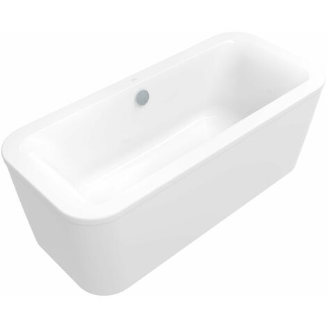 Bañera Villeroy und Boch acrílico ovalado LOOP & Friends Square Duo, UBA180LFS7PDV 1800x800mm, exterior e interior angular, incl. delantal, independiente, color: Star White - UBA180LFS7PDV-96