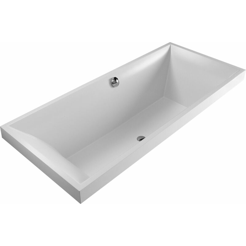 Bañera Villeroy y Boch Quaryl rectangular Squaro Duo, UBQ180SQR2V 1800x800mm, incl. pies de bañera, color: Star White - UBQ180SQR2V-96 - VILLEROY UND