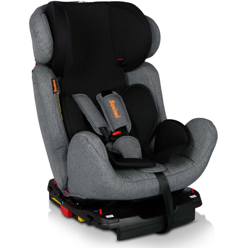Image of Baninni Baby Car Seat Felice Fix Grey and Black - Multicolour