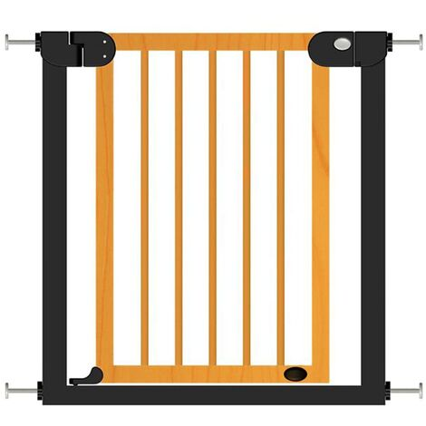Baninni Baby Safety Gate Woody Metal and Wood 76-83cm - Multicolour