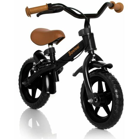 Baninni Balance Bike Wheely Black and Brown BNFK012-BKBR