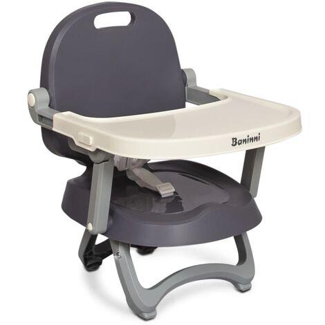 Baninni Booster Seat Sopra Grey and White