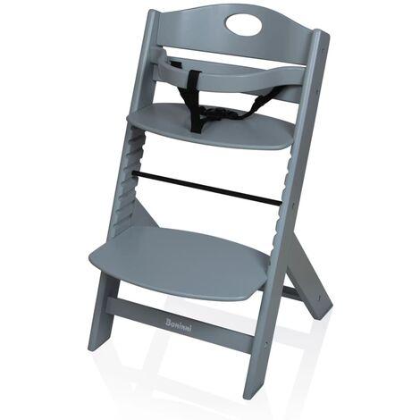 Baninni High Chair Muna Wood Dark Grey