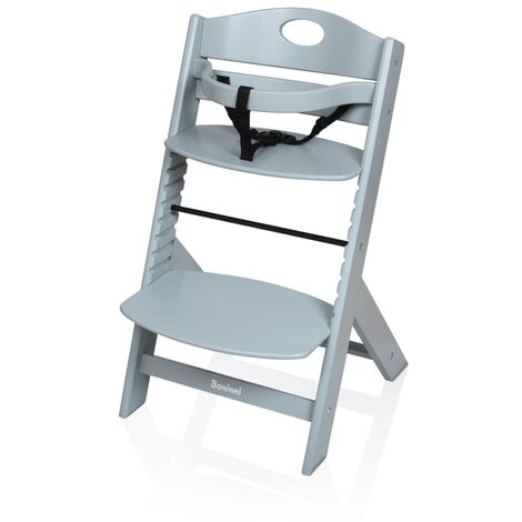 Baninni High Chair Muna Wood Light Grey