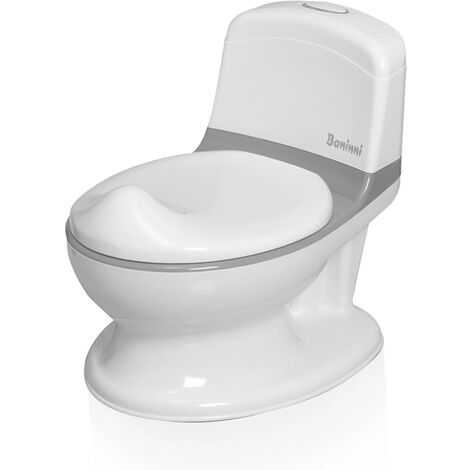 Baninni Potty Trainer with Sound Pippe Grey and White - Grey
