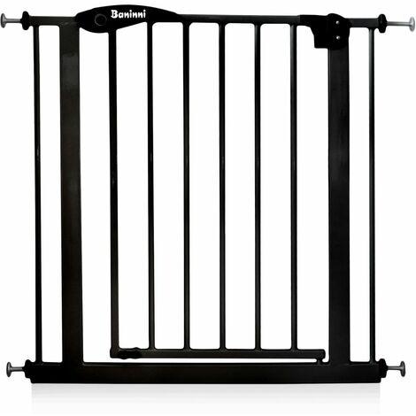 Baninni Safety Gate Vicino Metal 75-85cm Black - Black