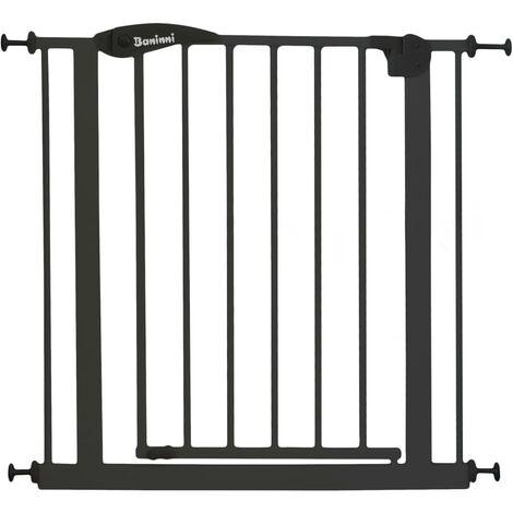 Baninni Safety Gate Vicino Metal 75-85cm Dark Grey - Grey