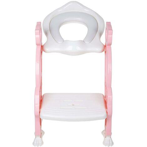 Baninni Toilet Seat with Ladder Bravo Pink