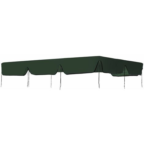 Banne Seats Waterproof Swing Top Cover Outdoor Awning Replacement Garden Yard Outdoor swing Cover 190 * 132 green WASHING