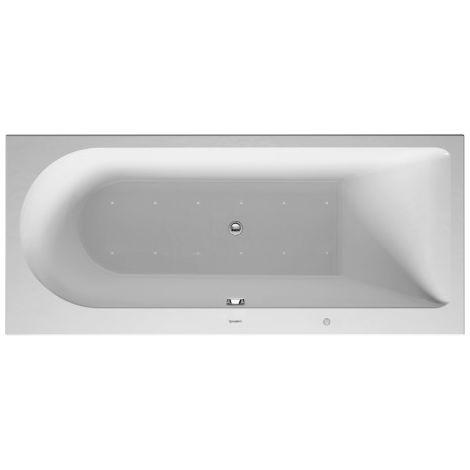 Baño de hidromasaje Duravit Darling New 1600x700mm, versión empotrada o para revestimiento de bañera, 1 respaldo inclinado a la derecha, marco y desagüe y rebose, Combi E - 760239000CE1000