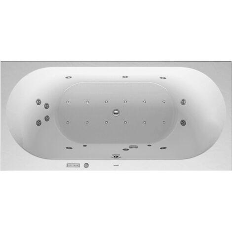 Baño de hidromasaje Duravit Darling New 1900x900mm, versión empotrada o para revestimiento de bañera, 2 inclinaciones traseras, marco y desagüe y rebose, Combi E - 760245000CE1000