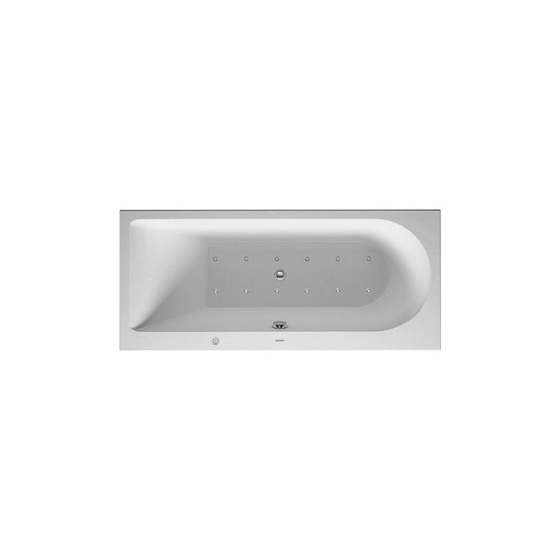 Baño de hidromasaje Duravit Darling Nuevo rectángulo 1700x600mm, versión empotrada o para revestimiento de bañera, 1 respaldo inclinado a la
