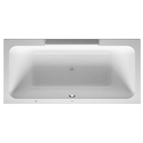 Baño de hidromasaje Duravit DuraStyle 1900x900mm, versión empotrada o para revestimiento de bañera, 2 inclinaciones traseras, marco, desagüe y rebose, Combi E - 760299000CE1000
