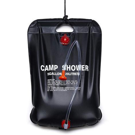 Bano portatil de ducha al aire libre solar Bolsa Bolsa Ducha Ducha acampar bolsa de agua 20L Calefaccion camping Bolsa de ducha