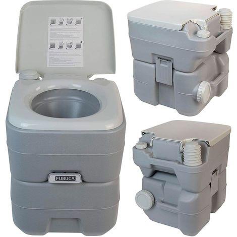 Baño portátil FUBUCA 20Lt con bomba de descarga 41x35x41 cm