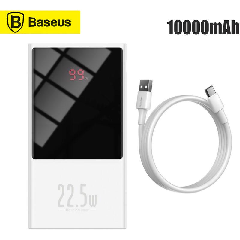 Baseus - Banque Power Bank Usb C Pd De Charge Rapide Powerbank Powerbank Powerbank Portable Chargeur De Batterie Externe Avec Ecran Dual Port
