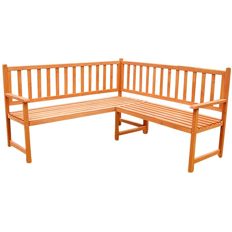 Banquette d\'angle en bois, banc de jardin, banquette en bois, banquette de  jardin, mobilier de jardin, banquette de parc, sièges NOUVEAU