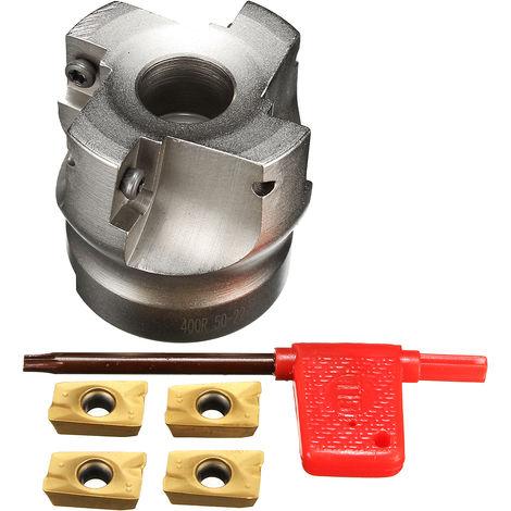 BAP 400R-50-22-4F Indexable Cutter Cutter Drill Bit + 4x APMT1604PDER Blade