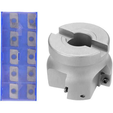 Bap 400R50-22-4T Carbure Insert Maintenu Alimentation Rapide En Alliage Fin Usine D'Usinage Face Milling, Avec 10 Tetes De Coupe
