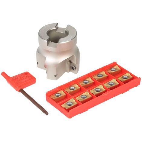 BAP400R-50-22 Cortador de fresado de extremo de cara de 4 flautas + 10 piezas / caja APMT1604 Insertos de carburo + Llave T15 Fresadora CNC
