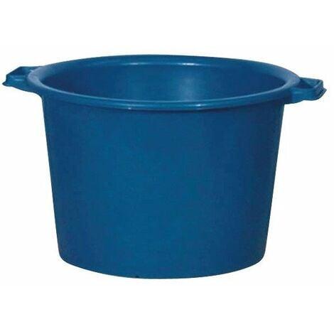 Baquet rond renforcé 30 l bleu 34/44 x 29