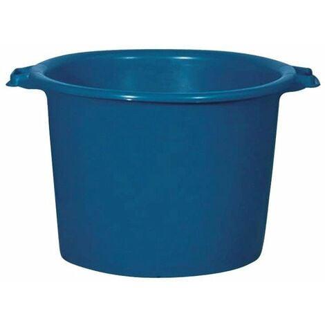 Baquet rond renforcé 55 l bleu 41/52,5 x 34