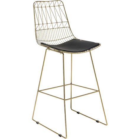 Bar Chair Metal Gold PRESTON