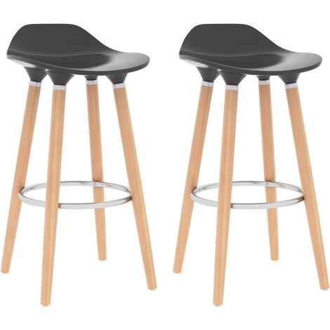 Bar Chairs 2 pcs Anthracite